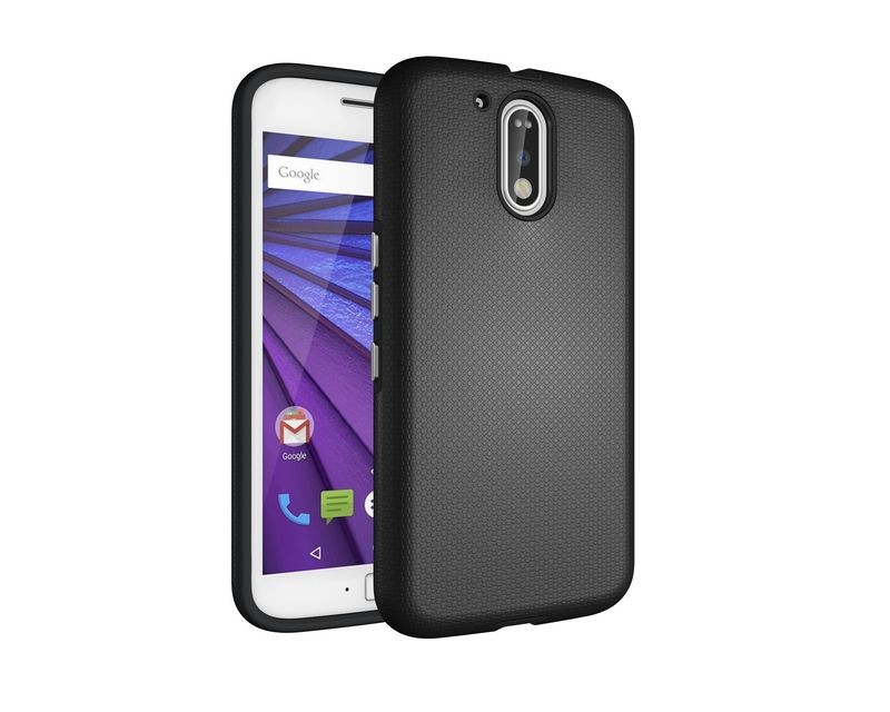 Rugged Hybrid Armor PC TPU Shockproof Phone Case Cover For Moto G4/G4 Plus