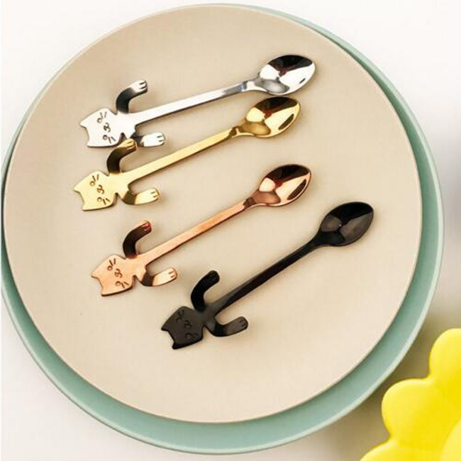 Animal Shape Cup Hanging Stainless Steel Fancy Tea Spoon