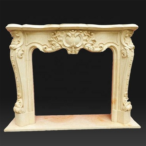 Custom design home decorative carved marble cast stone fireplace mantels