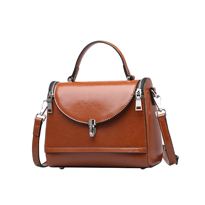 European cowhide leather shoulder bag for ladies handbag women tote bags wholesale and foreign <strong>trade</strong>