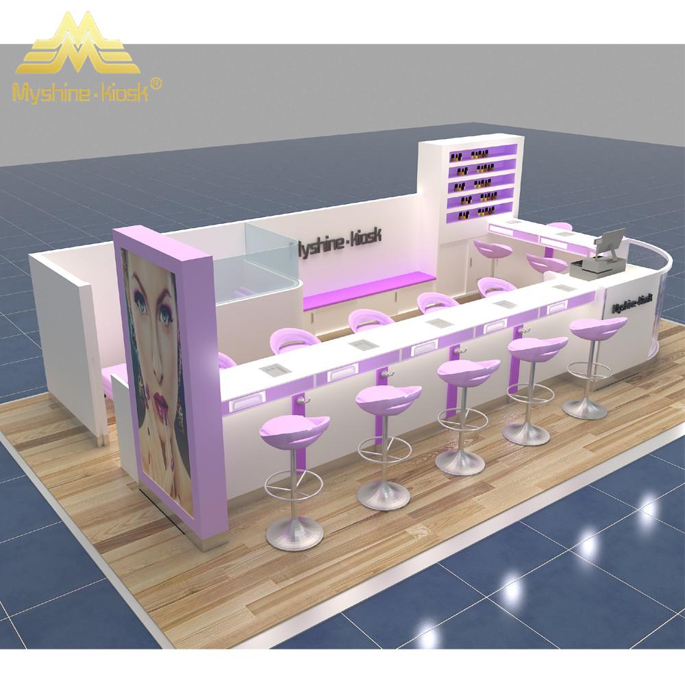 Cosmetic Kiosk Nail Bar Furniture Manicure