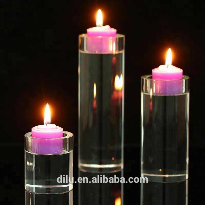 High Quality Cheap Glass Candlestick Acrylic Candelabra Candle Holder Crystal  For Home Decor