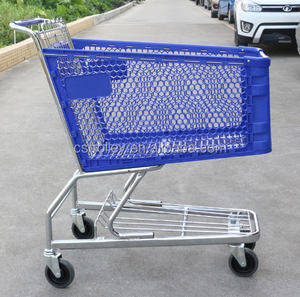 Supermarket plastic shopping cart (180L)