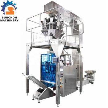 10 Heads Weigher, Stainless Steel, Automatic Chickpea / Soya Bean Granule Packing Machine