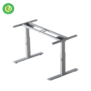 foshan adjustable desk legs metal frame sit to stand height adjustable steel table frame with permanent magnet synchronous motor