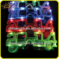 Cool 2014 Fashion LED Flashing Light Up Party Sunglasses with different colors
