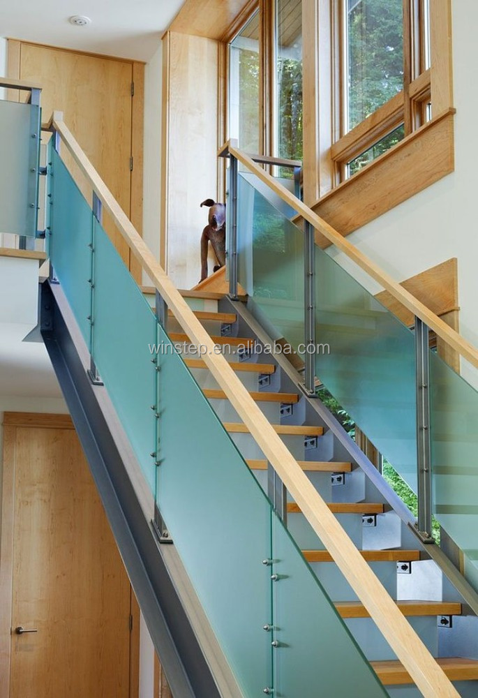 Security indoor tempered glass banisters for stairs