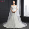 Q-019 New Arrival Chapel Train Strapless Tulle 2016 Mermaid Lace Wedding Dress
