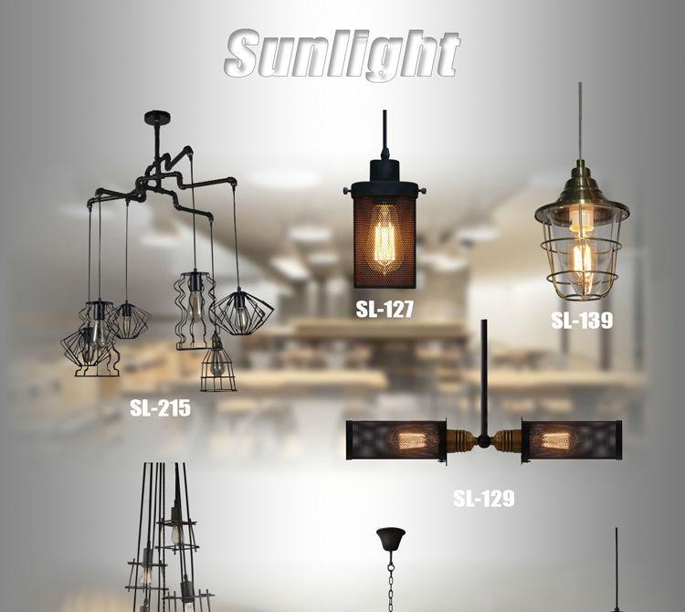 Modern Ball Hanging Lamp Loft Round Stainless Steel Pendant Light ...