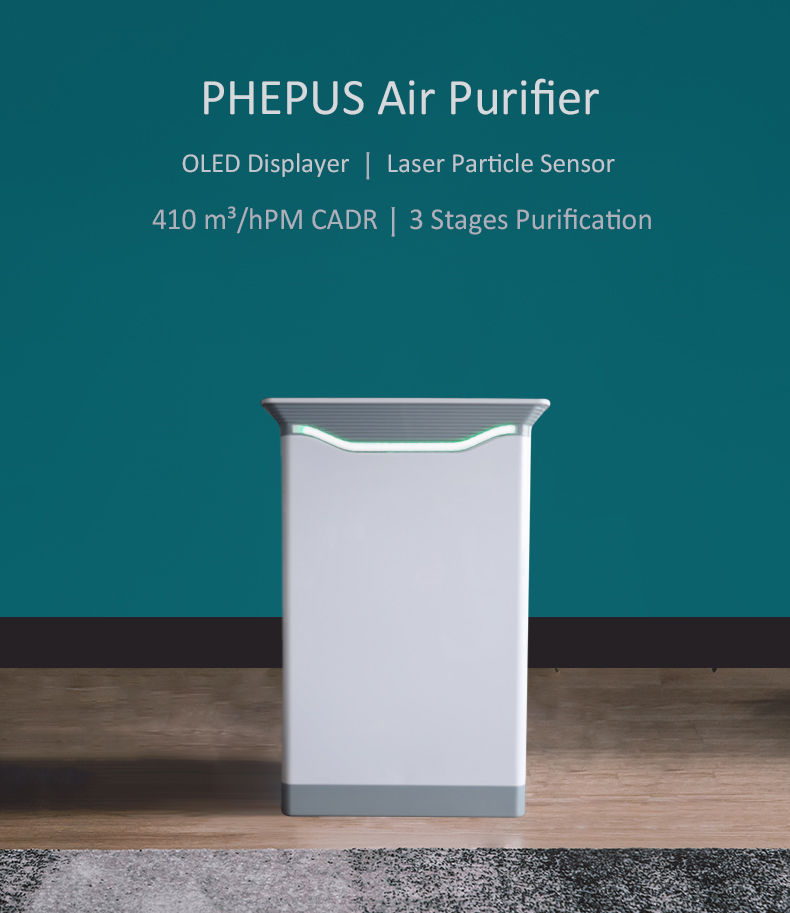 Negative Ion Air Purifier With PEPA filter To Remove Formaldehyde Smog