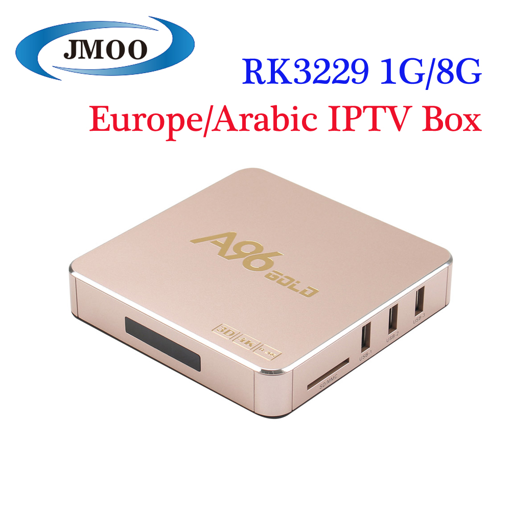 Most Popular Internet Arabic IPTV 1080P 4K HD OTT Internet Smart TV receiver Box A96gold iptv box italy UK US Albania Turkey de