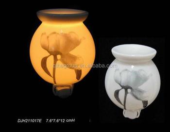 Qihe Factory Ceramic Plug In Candle Warmer Fragrance Oil Scent Wax Night Light