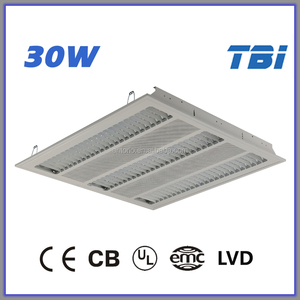 600*600 30W 4000K LED grille light CE CB UL EMC LVD t5 fluorescent light fixture high bay light fixture