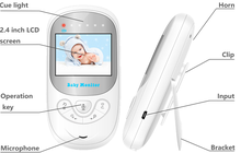 A due vie parlare 2.0 pollice LCD wireless <span class=keywords><strong>video</strong></span> <span class=keywords><strong>baby</strong></span> <span class=keywords><strong>monitor</strong></span> 2.4 GHz con Nightvision IR Temperatura