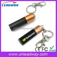 Metal Keyring Battery Shape USB 2.0 Flash Drive, AA Battery Shape USB