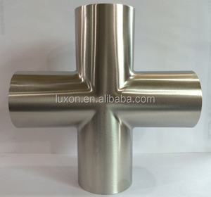 Sanitart/Hygienic 4way crosses for 304 316 SS Medical flange pipe