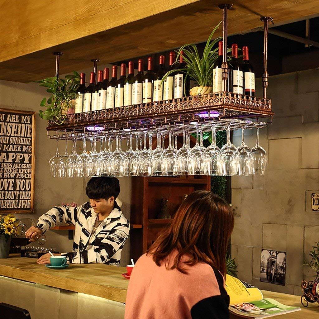 Wine Glass Rack, Shelf Wine Glass Holder,Wine glass rack, Wine Glass Rack, Champagne Glass Rack,Glassware Rack,Neon wine rack wall wine racks (Color : Bronze, Size : 120cm)