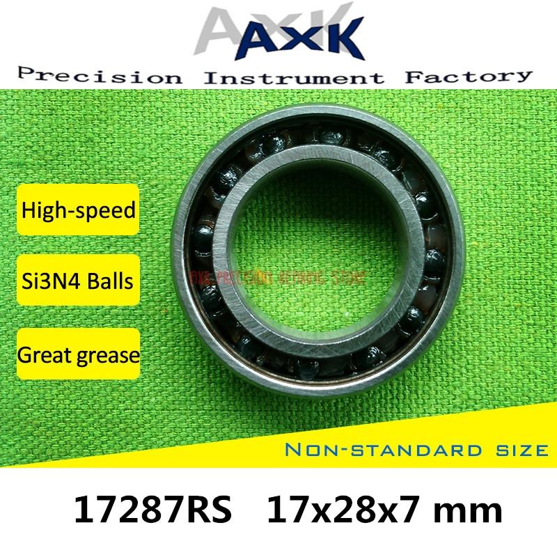 16x31x10 mm 163110-2RS HYBRID CERAMIC Si3N4 Ball Bearing Black QTY 2