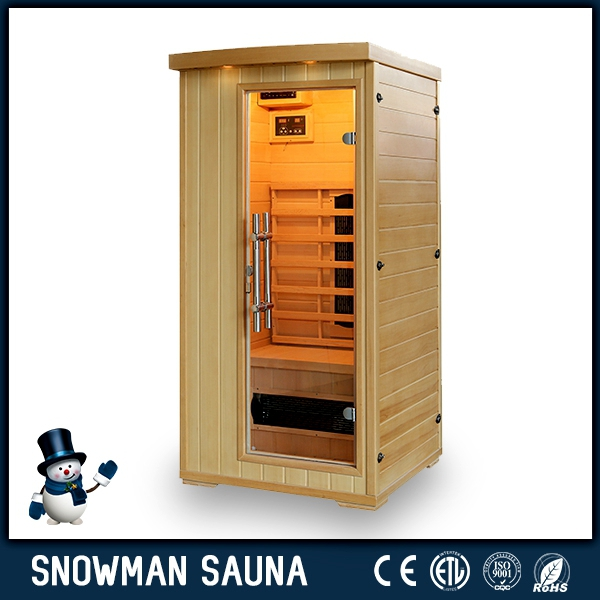 Hemlock sauna room with ceramic tube heaters for sale