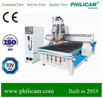 cnc router machine kitchen door three head engraving cutting machinery