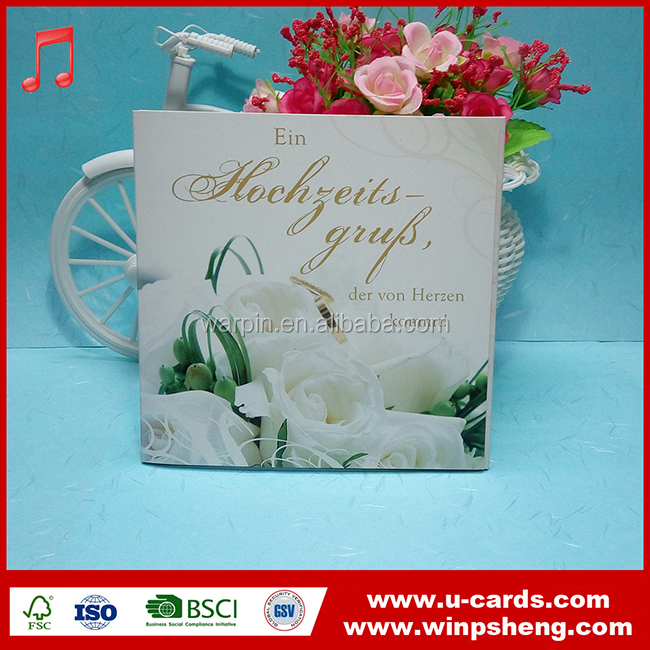 Latest Design Wedding Invitation Recordable Greeting Card