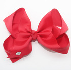 Girl Bows Baby Hair Bow Satin Ribbon Big Bow Hair Clips