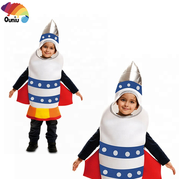 New Style Wholesale Halloween Carnival Party Cosplay Costume Fancy Rocket Ship Space Costume For Kid