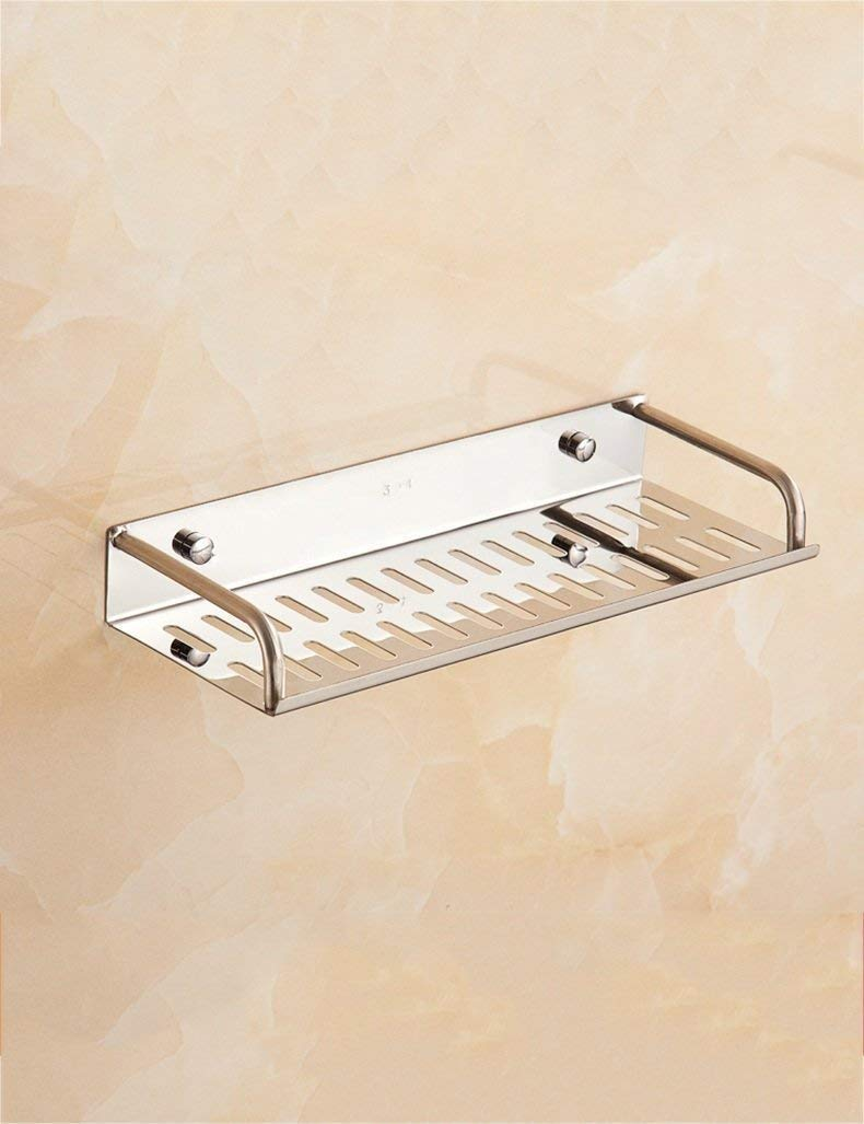 L.I. Shower Extremely Farm in Tray Stainless Steel Stand Simple Cosmetic Layer Storage Rack Bathroom Mirror Frame Shelves Before Toilet ensuring The Quality (Color 1, Size: 30cm)