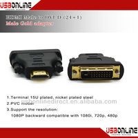 Buy DVI-D 24+1 pin Male to HDMI 19 pin Male M/F Adapter Connector ...
