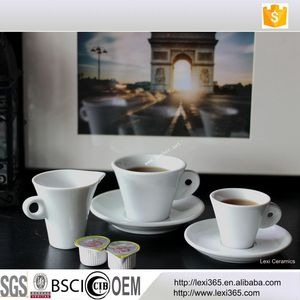 OEM Service Available European Cappuccino Cups And Saucer Fine Bone China Porcelain Espresso Coffee Cup Set For Coffee Shop