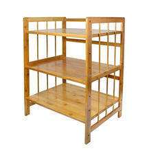 Kitchen shelf wooden bamboo wooden microwave oven stand