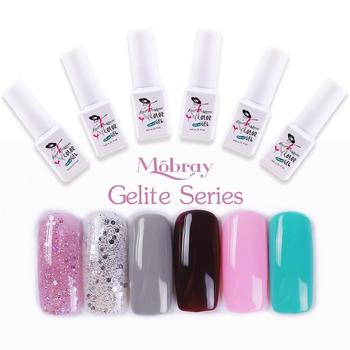 Mobray New Kit Gel UV polish Special Art Nail Polish 6 Colors Kit