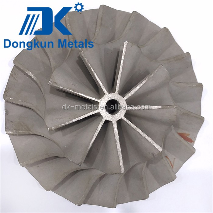 investment casting and machining process ISO9001 OEM steel alloy copper aluminum impeller
