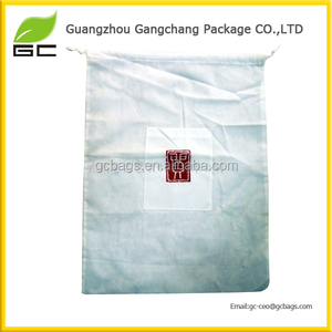Eco friendly for promotion cheap drawstring bag with logo print
