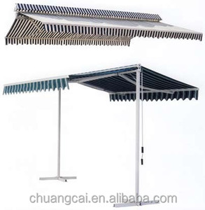 Free Standing Balcony Two Side Sunshades Vertical Awning