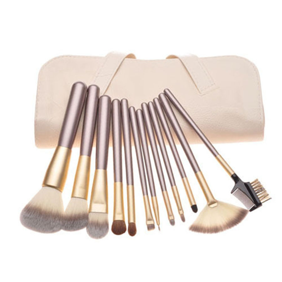 12PCS Professional Cosmetics Brand Makeup Brush Set Powder Blush Foundation Contour Make Up Naked Brushes Maquillaje Set Tool