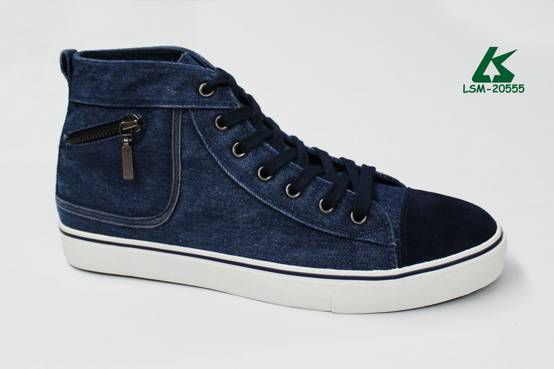 high top men fashion sneakers jeans canvas shoes