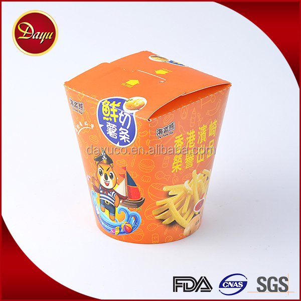 High quality cardboard cookie gift paper noodle box design