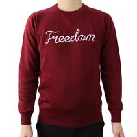 Custom make embroidered letter cotton cashmere crewneck sweater men
