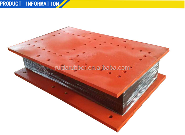 Ruida Lead core rubber bearing for bridge seismic isolation construction elastomeric & laminated  bearing pad