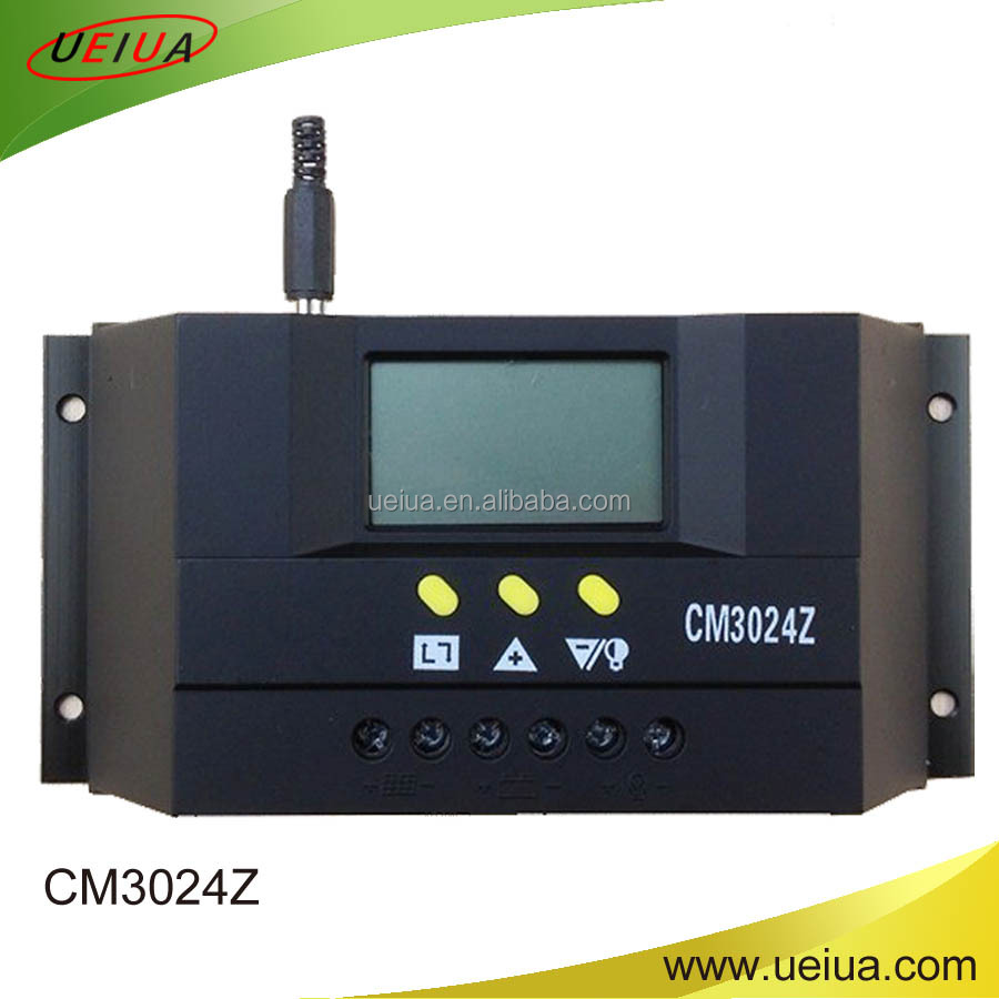 ce rohs 30 amp manual PWM solar <strong>charge</strong> <strong>controller</strong> pwm 12V 24V light and time control auto solar <strong>controller</strong>