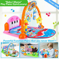 HX9108 4 games in 3 modes,12 in 1 powerful function large baby play mat