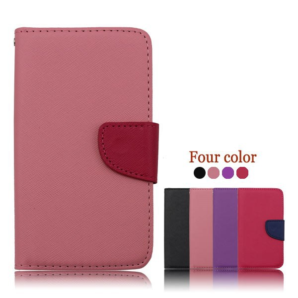 leather phone case for Samsung Galaxy I8000, flip mobile phone cover for Samsung Galaxy I8000