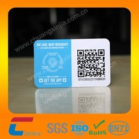 Cool plastic pvc business card with wechat QR code
