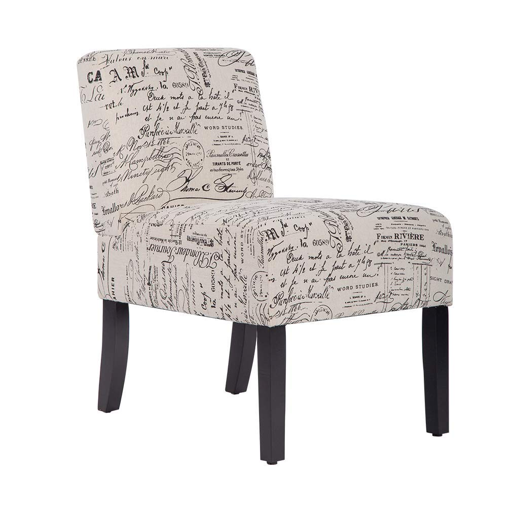 Armless Contemporary Sofa Accent Chair, Upholstered Club Side Fabric Chairs for Living Room