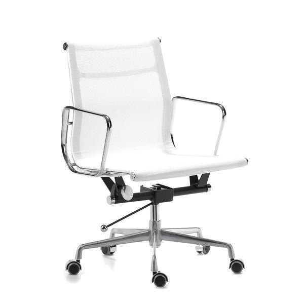 En Gros Blanc Bureau Aluminium Chaise De Table Maille