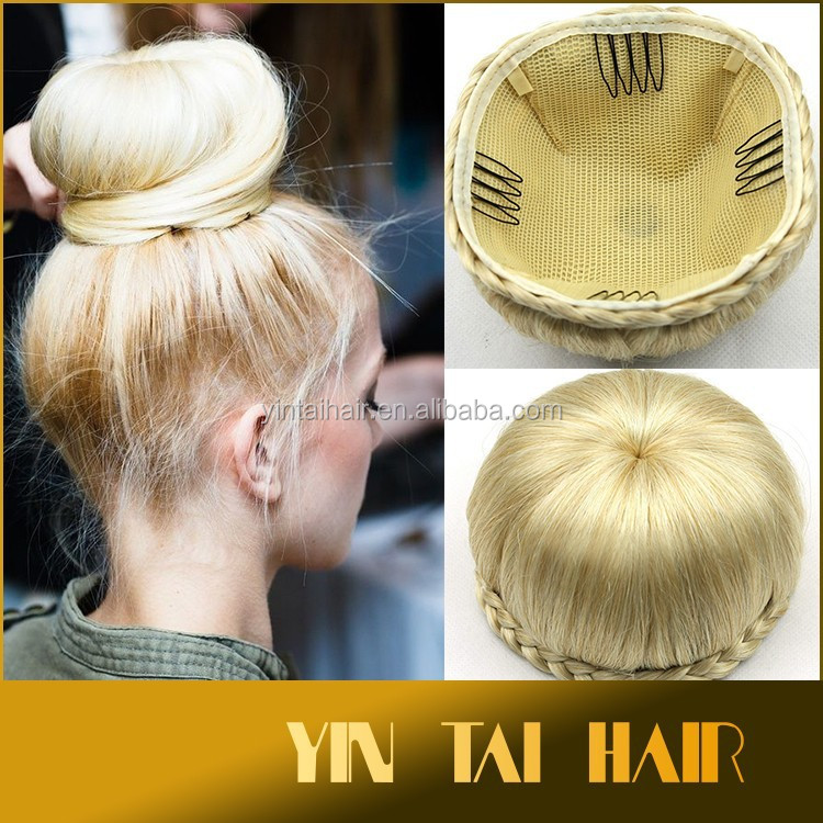 Stock! 2016 new product synthetic women hair bun hairpieces high quality