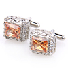 Fashion square shaped Jewelry Wholesale crystal cufflink for wedding