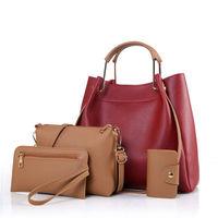 4de742e82de85 Luxury Designers 4pcs In 1 Set Handbag Leather Bags Women Handbags and Purse