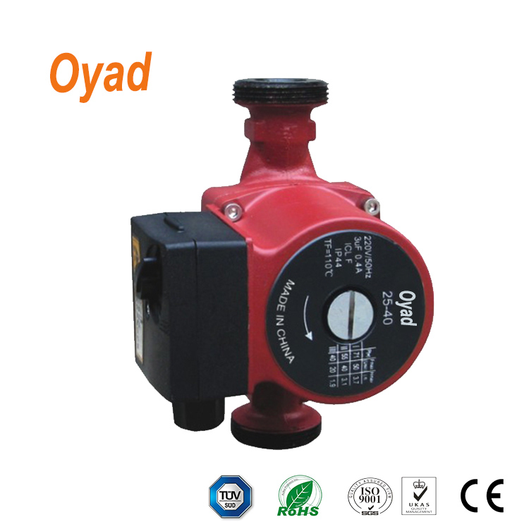 CRS25/4-180 home use residential warm water circulation pump for heat and solar system